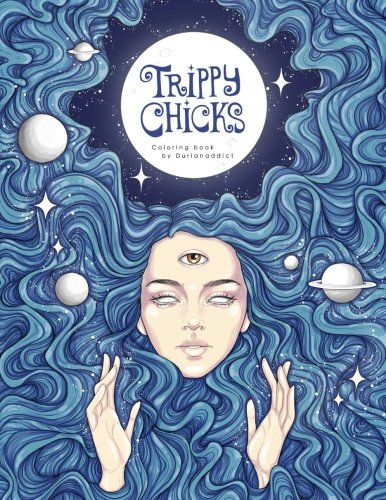 Trippy Chicks Adult Coloring Book