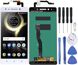 LENOVPARTS Lenovo Touch Screen LCD Screen and Digitizer Full Assembly for Lenovo K8 Note XT1902-3 (Black) (Color : White)