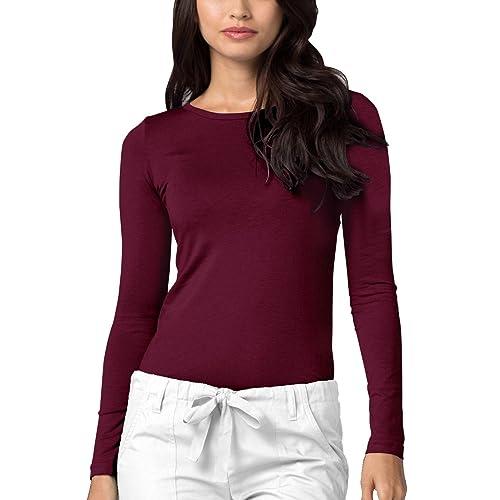 c5a0056e2807 Adar Womens Comfort Long Sleeve T-Shirt Underscrub Tee