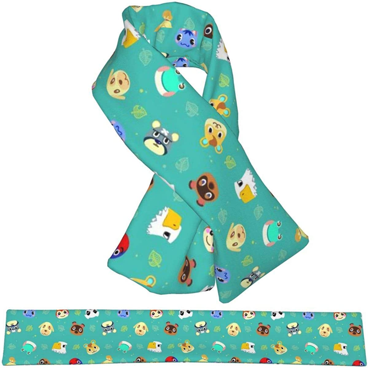 Flannel Fashion Scarf Crossing Woodpecker Animal Winter Warm Scarves With Adjustable Hole,Wraps Scarf For Women/Men/Kids