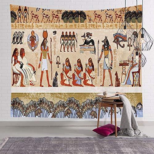 Tapiz del faraón egipcio antiguo pintura famosa colgante de pared pirámide pirámide estera de yoga toalla de playa tapiz egipcio a6 150x200cm