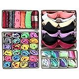 Fablcrew - Lot de 4 boîtes de rangement pliables pour sous-vêtements