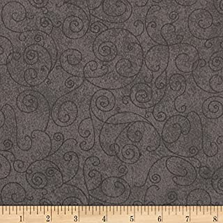 Westrade Textiles Westrade 110in Wide Quilt Back Flannel Willow Grey Fabric By The Yard