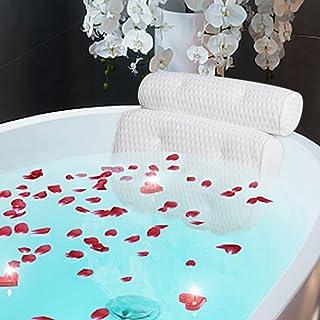 ALDIOUS Bath Pillow, 4D Air Mesh Technology Bathtub Pillow, Luxury Spa Bathroom Pillow with 7 Powerful Suction Cups,Helps ...