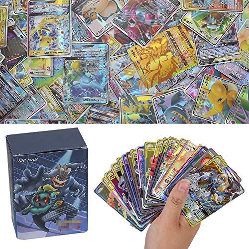 YNK 100 Stücke Sack Karten Sonne & Mond Series GX Karten Energy Trainer Karten (44 Tag Team)