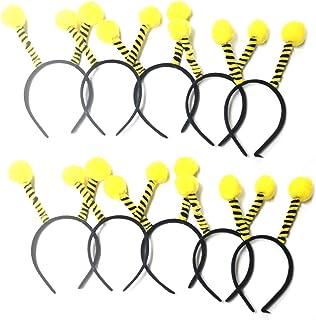 Envysun Bee Hair Bands 10pcs Tentacle Hair Hoop Party Headbands for Kids Women Hair Accessory