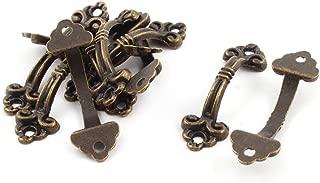 uxcell Home Door Arch Shape Decorative Metal Box Pull Handle Bronze Tone 10 Pcs