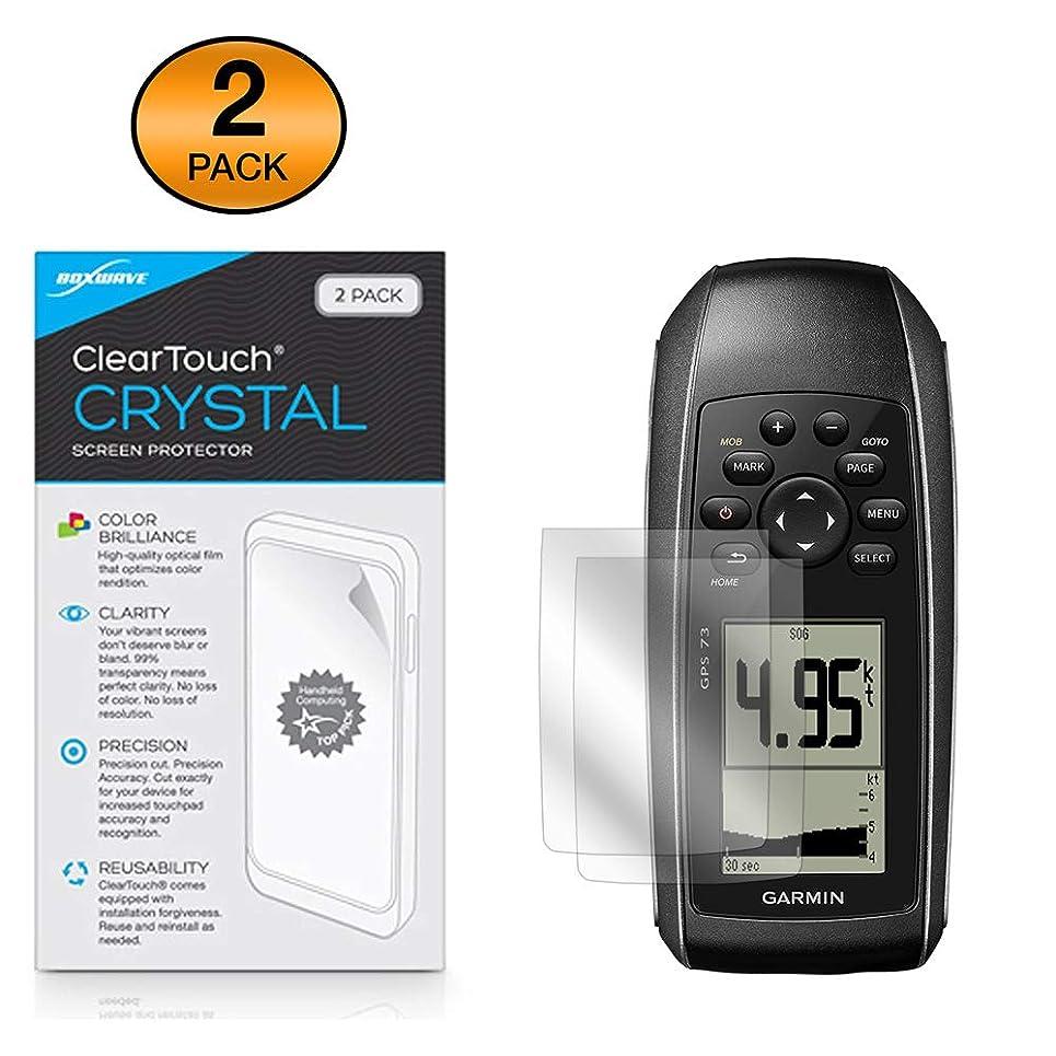 おばあさん匹敵します謝るBoxWave Garmin GPS 73 スクリーンプロテクター [ClearTouch Crystal (2個パック)] HDフィルムスキン - Garmin GPS 73の傷から保護