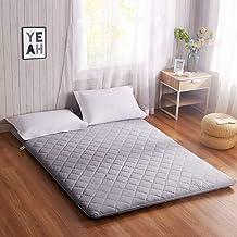 Comfortable Mattress Futon Mattress Topper,Japanese Tatami Floor mat Sleeping Foldable roll up Mattress Breathable Skin-Fr...