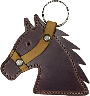 Hide & Drink, Leather Horse Head Keychain, Gag Gift, I'm Gonna Make Him an Offer He Can't Refuse, Key Holder, Horsemanship, Cowboy Cowgirl, Handmade Includes 101 Year Warranty :: Bourbon Brown