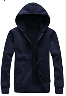 New ornament Casual new fashion New men's loose hooded hoodies casual sportswear black and white blue color zipper hoodie