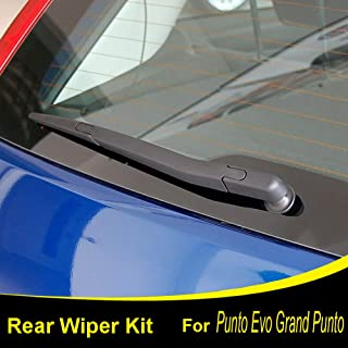 Xukey Rear Windshield Wiper Blade & Arm Set Fit For Fiat Punto Evo 2008-2012 Punto 199 2005-2018 Grand Punto 199 2005-2018(1 set)