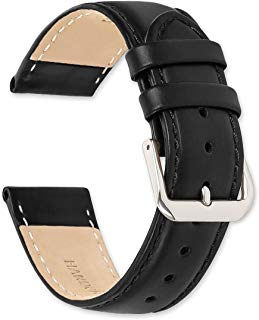 Stage Coach Leather Watch Band - Choice of Color - (Black, Brown, Havana) & Width - (10, 12, 14, 15, 16, 17, 18, 19, or 20mm)