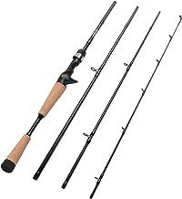 Fiblink 4 Pieces Travel Casting Rod Carbon Baitcasting Fishing Rod Portable Fishing Rod Baitcaster
