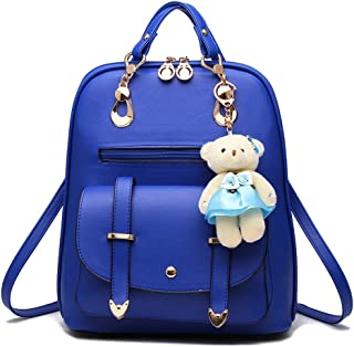 Women Small Backpack with 9 Pockets Girls Cute Tiny Purses for Travel Everyday Bag Pack