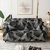 WXQY Fundas de celosía geométrica Funda de sofá elástica Funda de sofá de protección para Mascotas Funda de sofá con Esquina en Forma de L Funda de sofá con Todo Incluido A34 1 Plaza