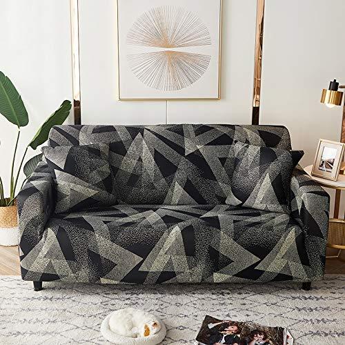 WXQY Fundas de celosía geométrica Funda de sofá elástica Funda de sofá de protección para Mascotas Funda de sofá de Esquina en Forma de L Funda de sofá con Todo Incluido A34 3 plazas