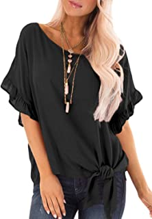 Best knot detail flowy blouse Reviews