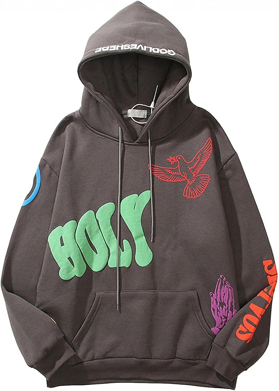 Aayomet Men's Hoodies Sweatshirts Hip Hop Graphic Casual Long Sleeve Hooded Pullover Tops Blouses Sweaters
