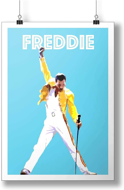 Magazine Poster A3 Millie Bobby Brown QUEEN Freddie Mercury