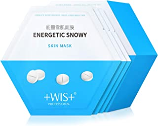 WIS Natural Hydrating Face Masks with Hyaluronic Acid Moisturizing Facial Mask Aloe Vera Mask Improve Dull Skin Even Skin ...