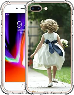 Moonlove Personalized Custom Case for iPhone 7/7 Plus/8/8 Plus/X Customized Picture Photo Cover Case Soft Thin Rubber Silicone Shock Absorbing Protective Bumper Case