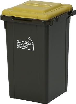 サンコープラスチック 日本製 ジョイント式 ゴミ箱 ビスダボ 33L ダークブラウン