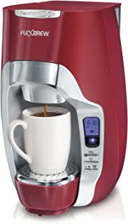 Hamilton Beach 49994 FlexBrew Programmable Single-Serve Coffeemaker, Red