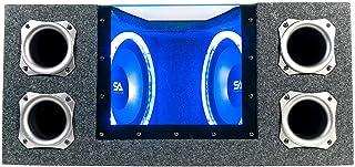 $149 » Seismic Audio - SA-PGCE10LED - Dual 10 Inch 1000 Watt Car Audio Subwoofer Box with LED Lights & Plexiglass Window