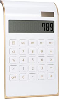 Desk Calculators, 10 Digits Business Calculator Office Calculator, for Home Destop-use Business School Finance Office(white)