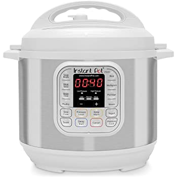 Instant Pot Duo 7-in-1 Electric Pressure Cooker, Slow Cooker, Rice Cooker, Steamer, Saute, Yogurt Maker, and Warmer, 6 Quart, White, 14 One-Touch Programs