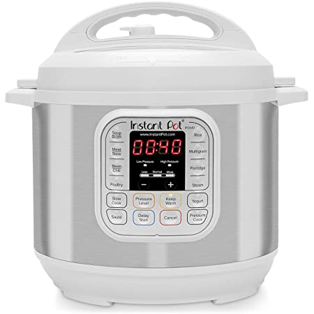 Amazon Com Instant Pot Duo 7 In 1 Electric Pressure Cooker Slow Cooker Rice Cooker Steamer Saute Yogurt Maker And Warmer 6 Quart White 14 One Touch Programs Kitchen Dining