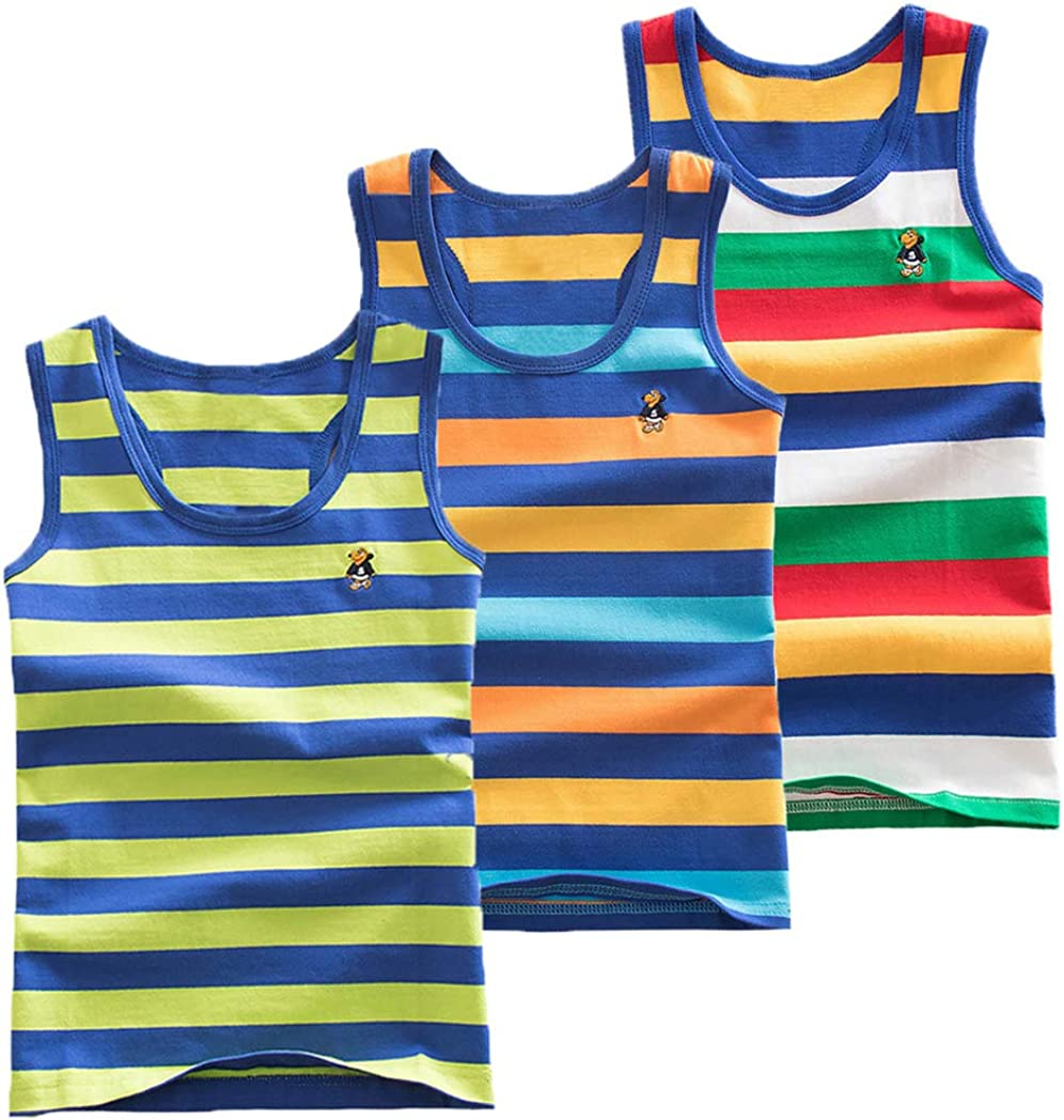 Coralup Little Boys Limited time sale Girls Unisex Tank Cami Top 3 Pack Shirts Tan Columbus Mall