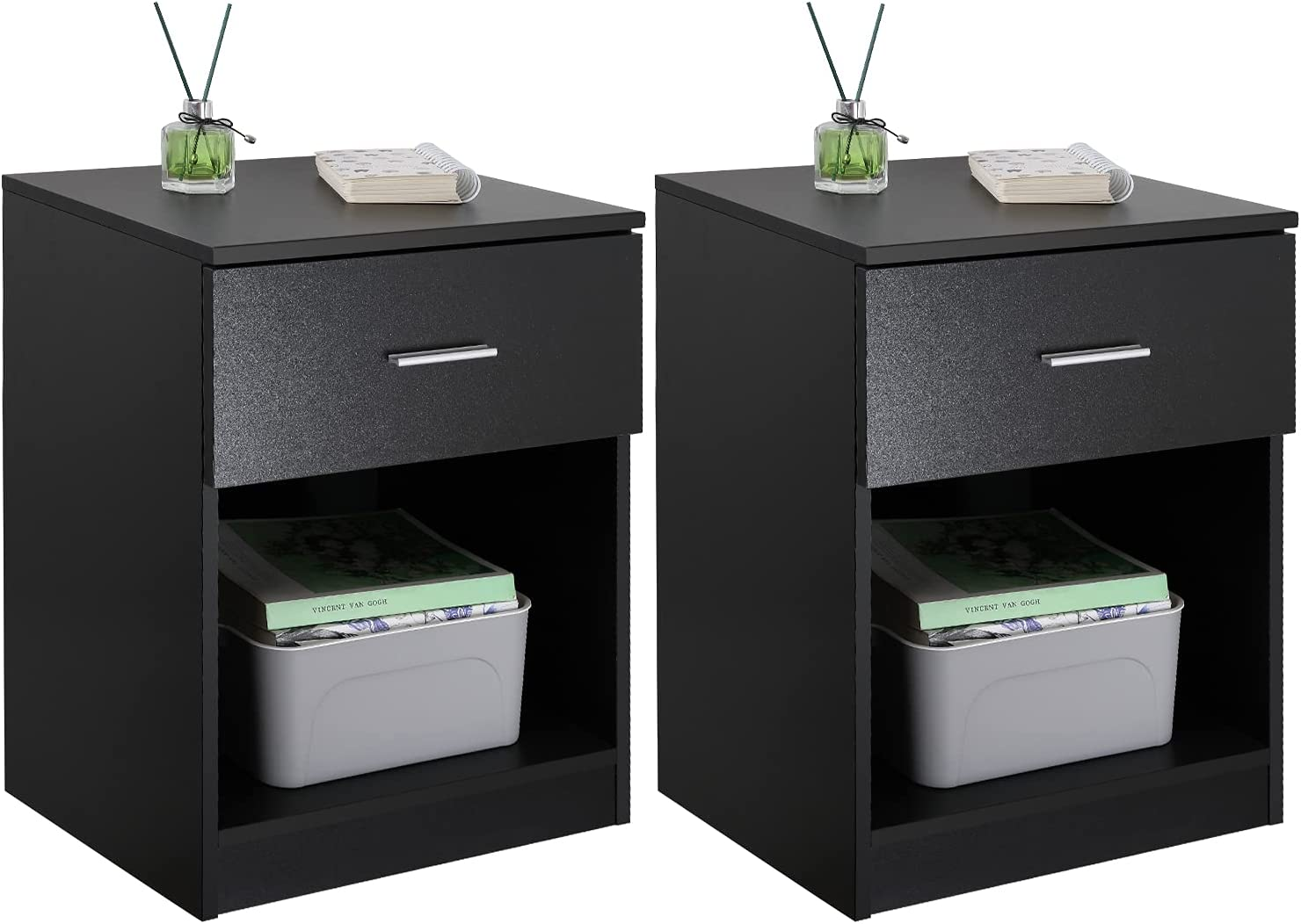 Goldoro Nightstand Set Ultra-Cheap Deals Cheap mail order sales of 2 Wooden Drawer Stylish with End Table