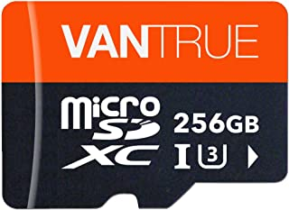 Vantrue 256GB MicroSDXC UHS-I U3 V30 Class 10 4K UHD Video High Speed Transfer Monitoring SD Card with Adapter for Dash Ca...