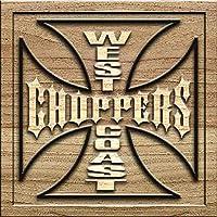 West Coast Choppers 木製看板 サインボード ドアプレート 3D彫刻 広告用標識 玄関 部屋飾り 壁掛け 横30cm x 縦30cm