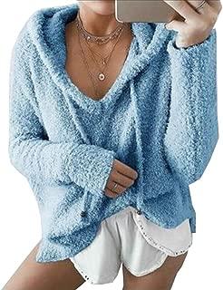 Sudaderas con Capucha para Mujer Jersey con Capucha Suéter Esponjoso Ropa de Abrigo de Manga Larga cálida