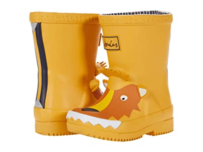 Joules Kids Welly Print (Toddler) (Gold Lion) Boy