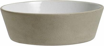 Preisvergleich für Steingut Schale Suppenteller beige weiß von NORDAL 18 cm L
