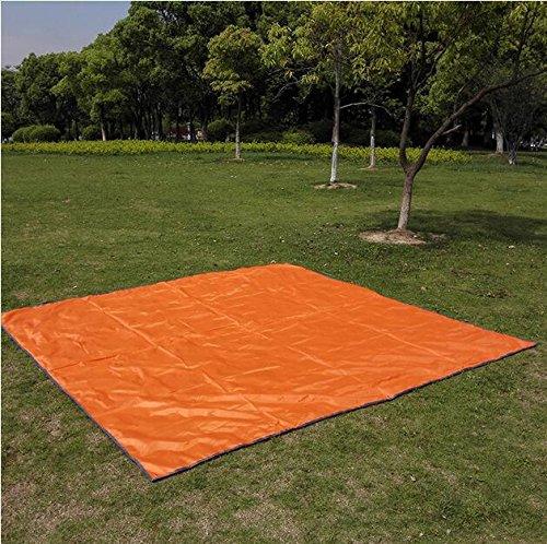 Z&HX sportsCamping ext¨¦Rieur Oxford Ground Picnic Imperm¨¦Able ¨¤ l'eau, Orange, 300 * 300cm