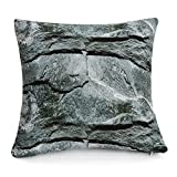 WOWMAX Three-Dimensional Curve Square Living Stones Floor Pillows Home Decoration Stuffed Throw Pillows Big Rock Pillows New Pebble Pillows Photo Or Film Props 17x17Inches Rock Stone