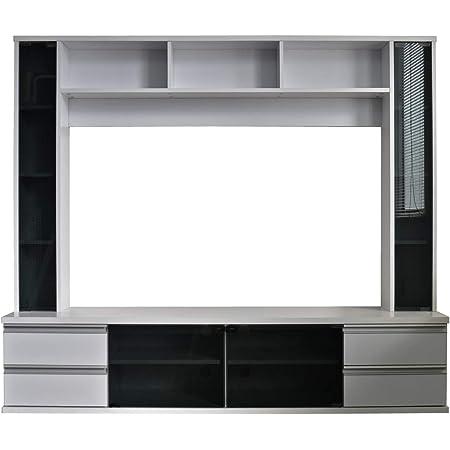 【55-60型推奨】 テレビ台 ハイタイプ 55インチ 60インチ 対応 180幅 収納 壁面収納 組み立て ホワイト TCP364-WH