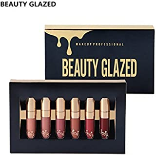 Beauty Glazed 6pcs/set Makeup Matte Not Faded Lipstick Lip Kit Gloss Long Lasting Lip Stick Cosmetics Mini Set