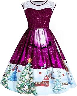 MogogoWomen Splicing Sleeveless High Waist Big Hem Patterned Dresses