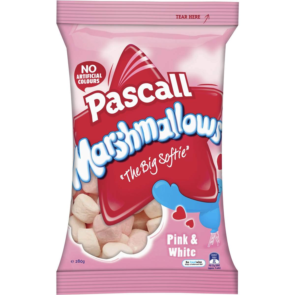 Max Very popular 40% OFF Pascall Marshmallows 280g Pink White
