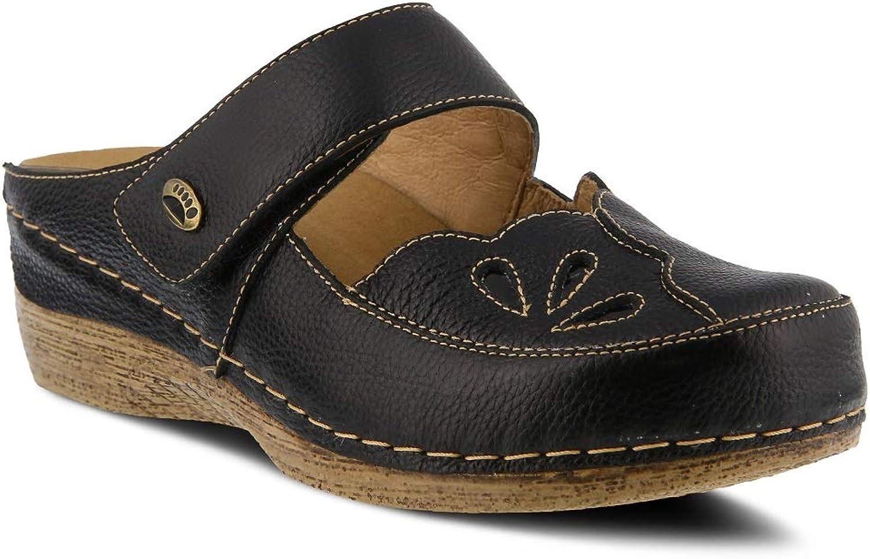 Spring Step Women's Carlotta Clog & Mules   color Black   Leather Clog & Mules