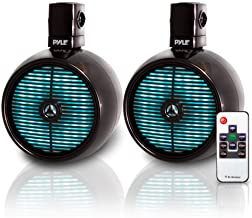 $139 » Pyle Marine Speakers - 8 Inch Waterproof IP44 Rated Wakeboard Tower and Weather Resistant Outdoor Audio Stereo Sound Syste...