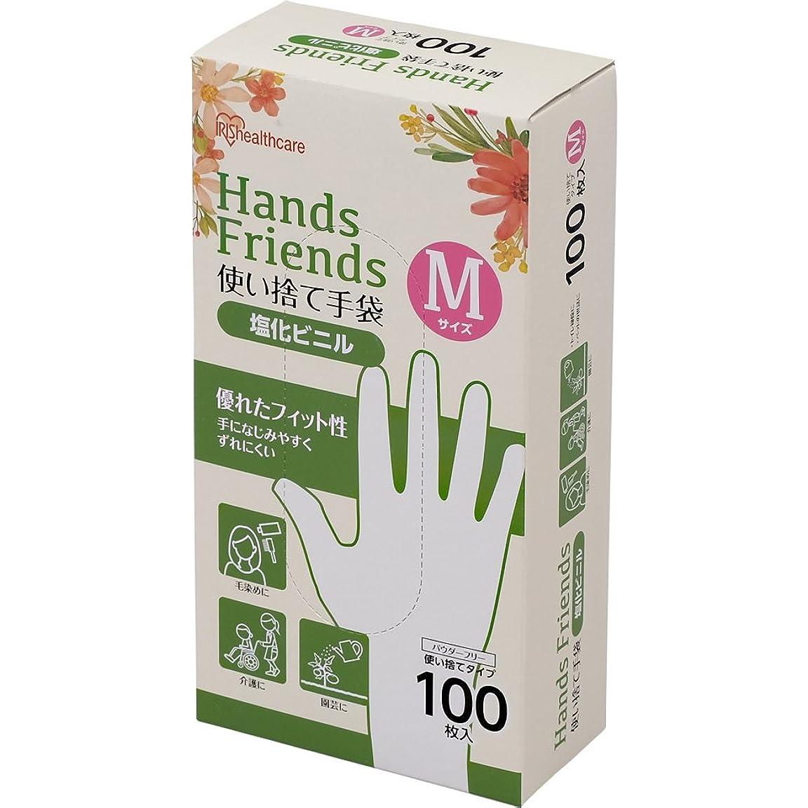 観光に行く期待して家庭教師使い捨て手袋 クリア 塩化ビニル 100枚 Mサイズ PVC-100M