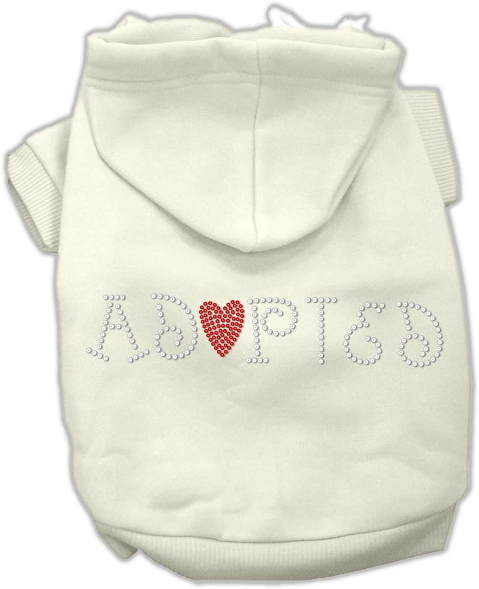 Super sale period limited Store Mirage Pet Products 16-Inch Adopted Hoodie Cream X-Large