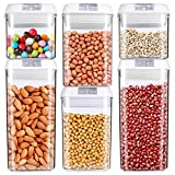 Food Storage Container, MCIRCO Air-Tight Cereal & Dry Food Storage Set- 6 Piece Set with...